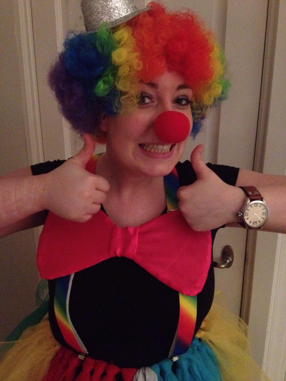 Clowntje met mijn eerste en laatste pruik!