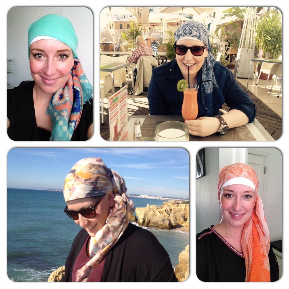 Een aantal foto's van mij met hoofddoekje.